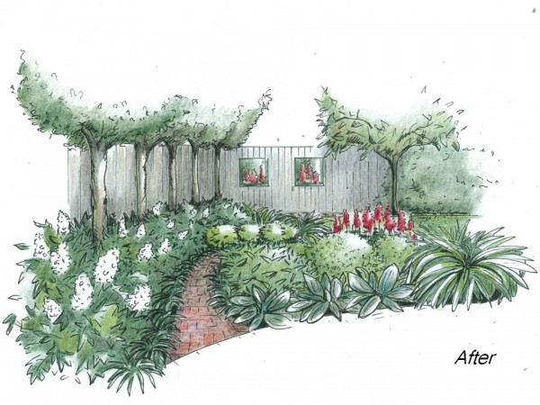 Lush planting for a shady garden nook
