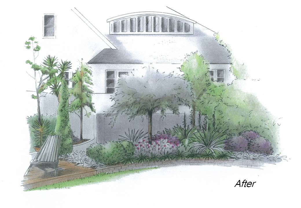 Linking a new garden with an established setting