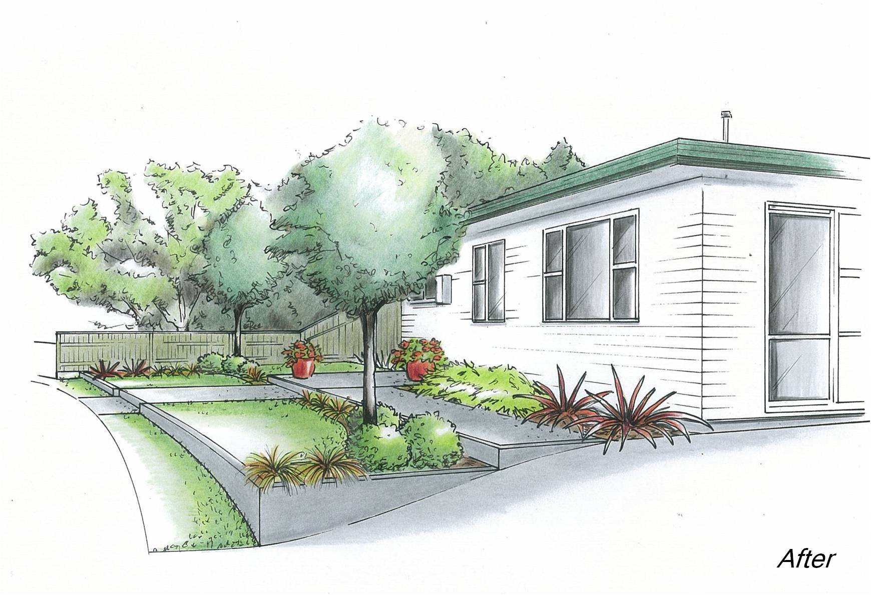 Design for a welcoming front garden